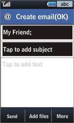 Samsung S5620 Monte - E-mail - Sending emails - Step 9