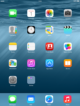 Apple iPad 2 iOS 8 - Internet - Example mobile sites - Step 1