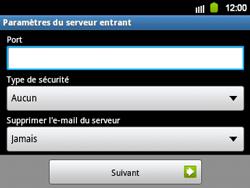 Samsung B5510 Galaxy TXT - E-mail - Configuration manuelle - Étape 8
