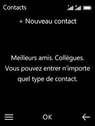 Nokia 3310 - Contact, Appels, SMS/MMS - Ajouter un contact - Étape 5