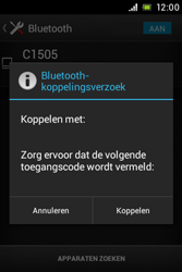 Sony C1505 Xperia E - WiFi en Bluetooth - Bluetooth koppelen - Stap 7