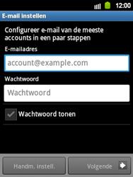 Samsung S5360 Galaxy Y - E-mail - Handmatig instellen - Stap 6