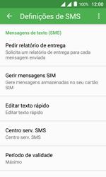 """Alcatel Pixi 4 (4"""") - SMS - Como configurar o centro de mensagens -  7"""