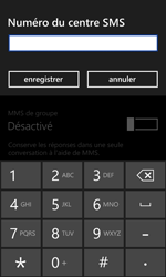 HTC Windows Phone 8S - SMS - configuration manuelle - Étape 6