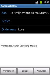 Samsung S5690 Galaxy Xcover - E-mail - hoe te versturen - Stap 8