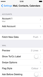 Apple iPhone 5s - iOS 8 - E-mail - Manual configuration - Step 30