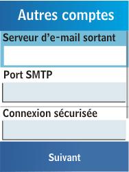 Samsung C3300K - E-mail - Configuration manuelle - Étape 14