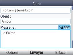 Nokia Asha 302 - E-mail - envoyer un e-mail - Étape 10