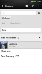 HTC One - Email - Sending an email message - Step 16