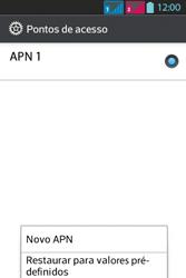 LG Optimus L5 Dual - Internet - Como configurar seu celular para navegar através de Vivo Internet - Etapa 11