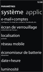 Nokia Lumia 610 - Internet - Activer ou désactiver - Étape 4