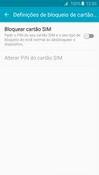 Samsung Galaxy S6 - Segurança - Como ativar o código PIN do cartão de telemóvel -  7