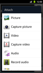 Samsung I8530 Galaxy Beam - MMS - Sending pictures - Step 11