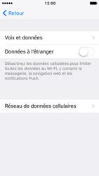 Apple iPhone SE - iOS 10 - Internet - Désactiver du roaming de données - Étape 6