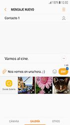 Samsung Galaxy J5 (2017) - Mensajería - Escribir y enviar un mensaje multimedia - Paso 13