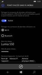 Microsoft Lumia 550 - Internet et connexion - Partager votre connexion en Wi-Fi - Étape 9
