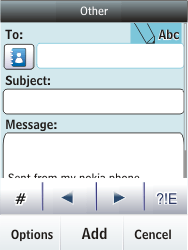 Nokia Asha 300 - Email - Sending an email message - Step 7