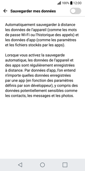 LG Q6 - Device maintenance - Back up - Étape 9