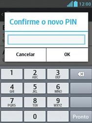 LG L1 II - Segurança - Como trocar o código PIN do seu celular - Etapa 9