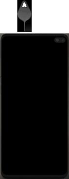 Samsung Galaxy S10 Plus - Appareil - comment insérer une carte SIM - Étape 2