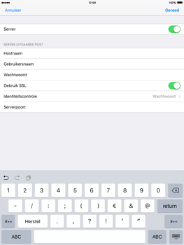 Apple iPad Air 2 iOS 9 - E-mail - Account instellen (POP3 met SMTP-verificatie) - Stap 19