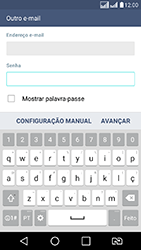 LG K8 - Email - Como configurar seu celular para receber e enviar e-mails - Etapa 7