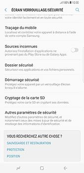 Samsung Galaxy S8+ - Sécuriser votre mobile - Personnaliser le code PIN de votre carte SIM - Étape 5