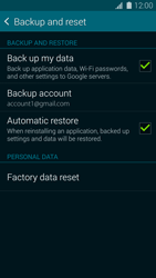 Samsung Galaxy S5 G900F - Device maintenance - Create a backup of your data - Step 8