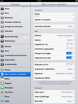 Apple iPad mini - E-mail - Configurer l