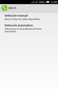 Alcatel Pop C9 - Red - Seleccionar una red - Paso 8