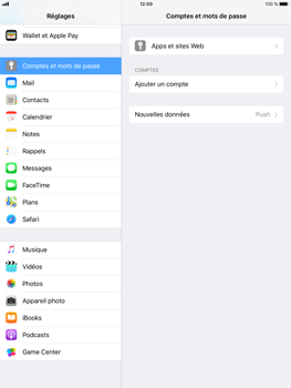 Apple iPad Air 2 - iOS 11 - E-mail - Configurer l