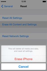 Apple iPhone 4s iOS 8 - Device maintenance - How to do a factory reset - Step 5