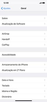 Apple iPhone X - iOS 12 - Primeiros passos - Como encontrar o número de IMEI do seu aparelho - Etapa 4