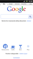 Sony Ericsson Xperia Ray - Internet - navigation sur Internet - Étape 4