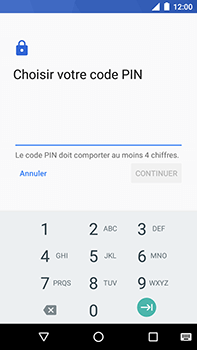 Motorola Moto E4 Plus - Sécuriser votre mobile - Activer le code de verrouillage - Étape 7