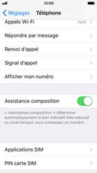Apple iPhone SE - iOS 11 - Sécuriser votre mobile - Personnaliser le code PIN de votre carte SIM - Étape 4