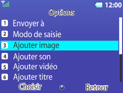 Bouygues Telecom Bc 311 - Contact, Appels, SMS/MMS - Envoyer un MMS - Étape 7