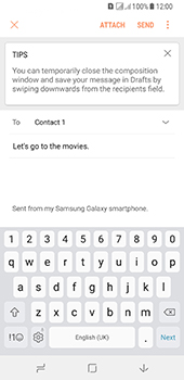 Samsung Galaxy A8 (2018) - E-mail - Sending emails - Step 10