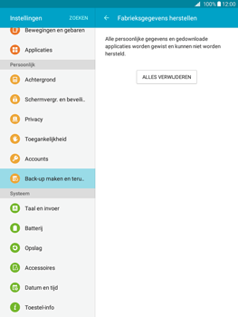 Samsung Galaxy Tab A 9.7 (SM-T555) - Instellingen aanpassen - Fabrieksinstellingen terugzetten - Stap 7