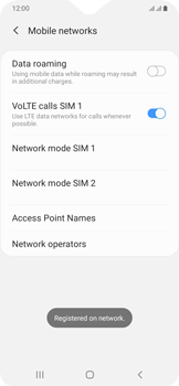 Samsung Galaxy A20e - Network - Manually select a network - Step 14