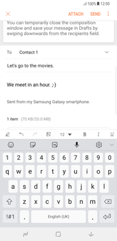 Samsung Galaxy S8 Plus - Android Oreo - E-mail - Sending emails - Step 19