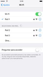 Apple iPhone 6s iOS 9 - WiFi - Conectarse a una red WiFi - Paso 7