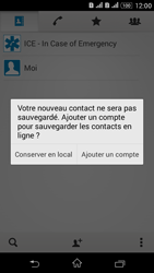 Sony Xperia E4g - Contact, Appels, SMS/MMS - Ajouter un contact - Étape 5