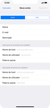 Apple iPhone XS Max - Email - Configurar a conta de Email -  11