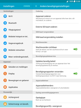 Samsung Galaxy Tab A 9.7 (SM-T555) - Beveiliging en ouderlijk toezicht - Hoe wijzig ik mijn SIM PIN-code - Stap 6
