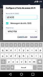 LG K10 - Wi-Fi - Como usar seu aparelho como um roteador de rede wi-fi - Etapa 7