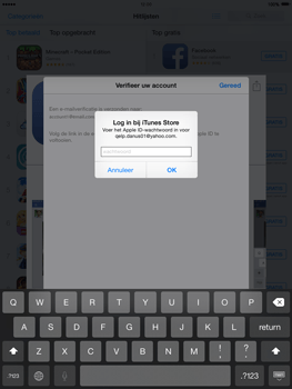 Apple iPad mini met iOS 8 - Applicaties - Account aanmaken - Stap 24