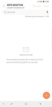 Samsung Galaxy S8 Plus - Android Oreo - E-mail - Configuration manuelle (outlook) - Étape 12