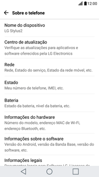 LG G5 Stylus - Primeiros passos - Como encontrar o número de IMEI do seu aparelho - Etapa 5