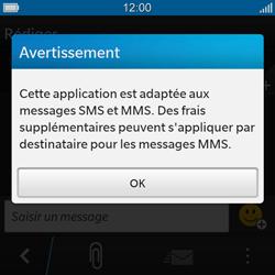 BlackBerry Q10 - Contact, Appels, SMS/MMS - Envoyer un MMS - Étape 4